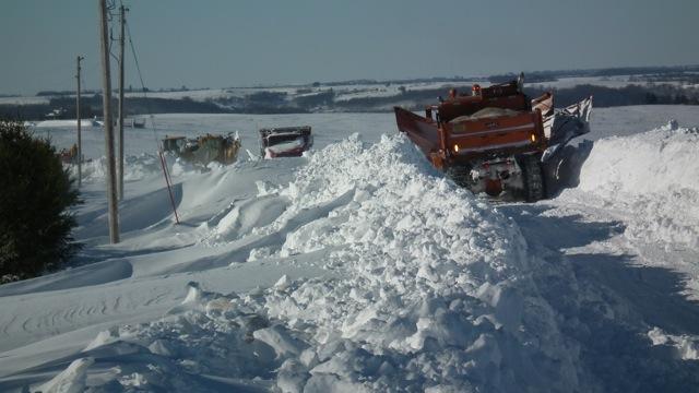 2012 Snowstorm - County Road F